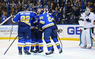 Blues hold off Sharks to take game one