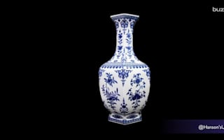 Old vase used as doorstop sells for almost £650,000