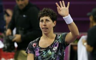 Suarez Navarro hammers Radwanska to set up Ostapenko final