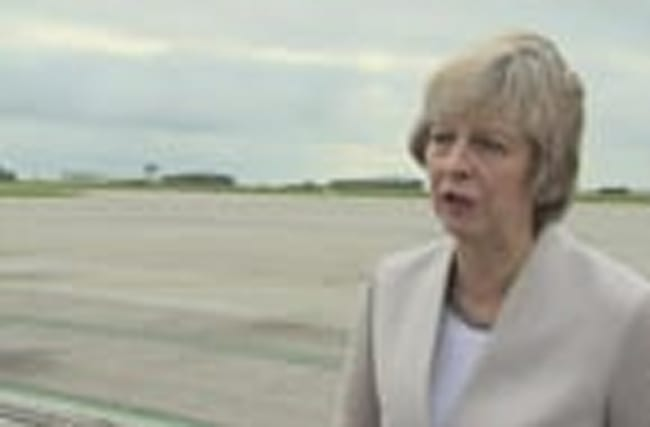 Theresa May says that Heathrow will benefit the South West