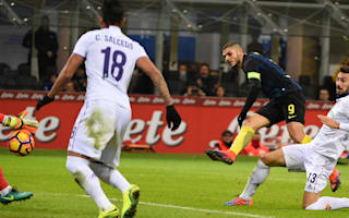 Inter 4 Fiorentina 2: Icardi inspires early rampage as Pioli gets first win