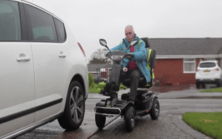 Grandad given speeding ticket for doing 42mph on scooter that can only hit 8mph