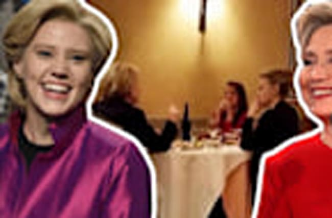 Hillary Clinton Has Dinner With SNL'S Kate McKinnon!