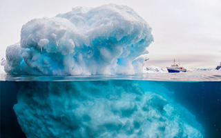 'Monster iceberg' makes 3,000-tonne ship look tiny (picture)