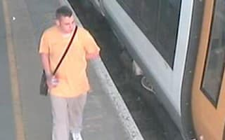 Police hunt after man pours urine over train passenger's head