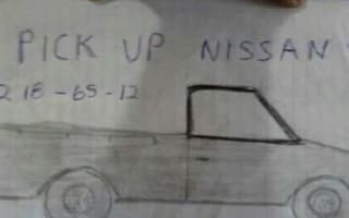 Woman's terrible drawing helps find missing pickup