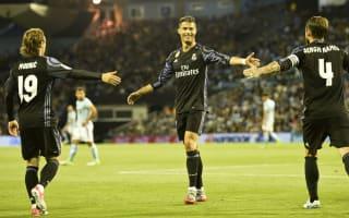 Celta Vigo 1 Real Madrid 4: Ronaldo double helps Zidane's men to within a point of LaLiga title