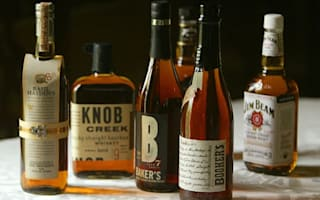 Tasting bourbon whiskey