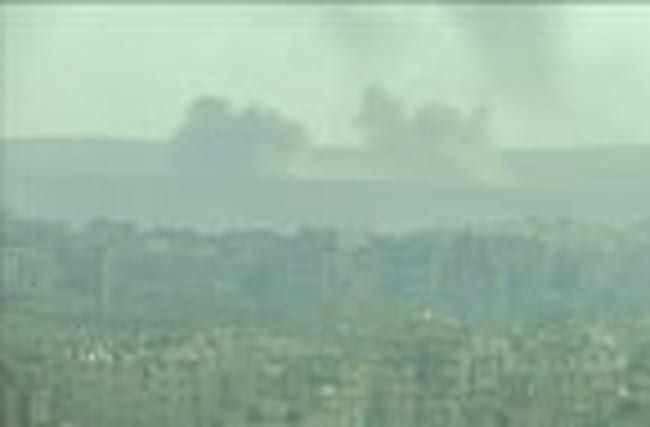 Smoke rises after early morning shelling of eastern Aleppo