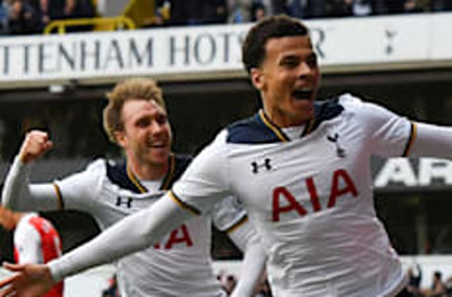 Spurs keep up title chase with derby win over Arsenal