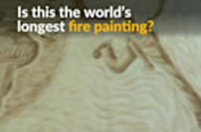Using fire to make art, Indian artist eyes world record