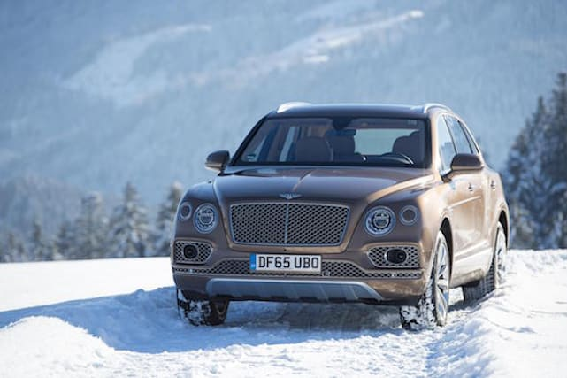 New Bentley Bentayga revealed in Austrian Alps
