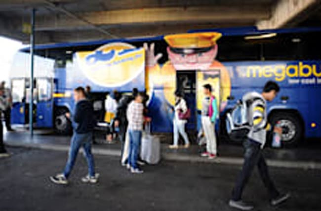 Concerned passengers kick the driver off 'dangerous' Megabus
