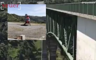 Woman falls 60ft from bridge while taking selfie
