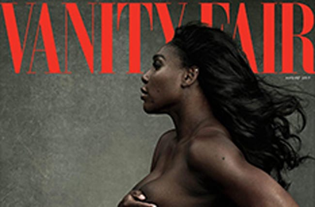 Pregnant Serena Williams poses nude for Vanity Fair cover