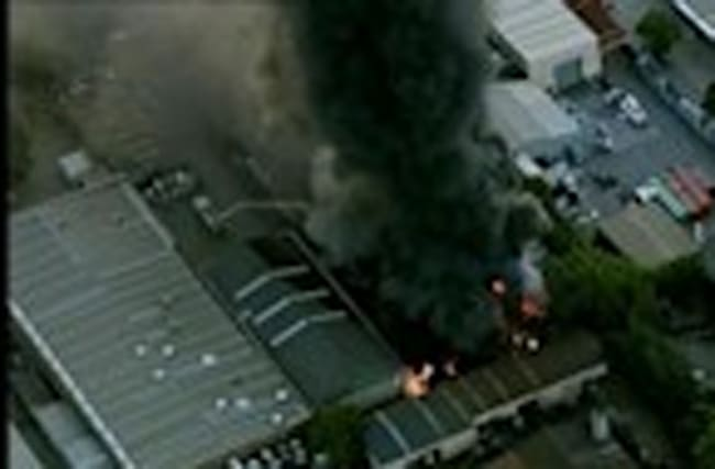 Over 100 firefighters tackle Australian factory fire