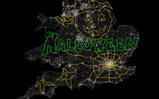 Vauxhall creates world's largest GPS drawing for Halloween