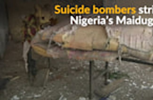 Multiple suicide bombings strike Nigerian city of Maiduguri