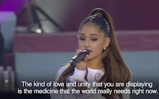 Tears as Ariana Grande leads 'night of love' at Manchester benefit concert