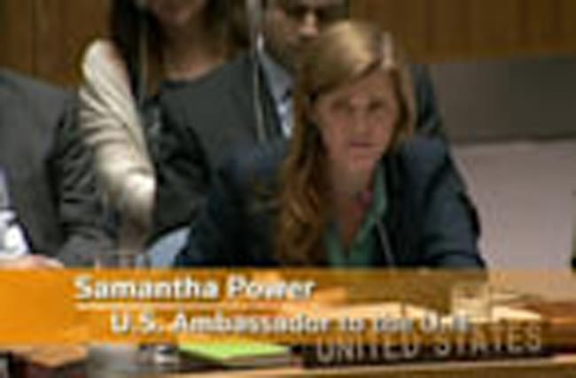 """U.S. ambassador to U.N.: Russia's action in Syria is """"barbarism"""""""