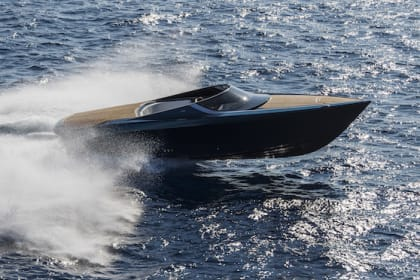 Aston Martin reveals AM37 powerboat in Monaco