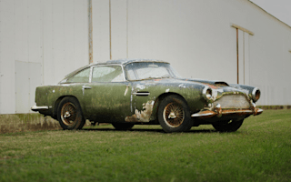 Aston Martin DB4 found in woodland expected to fetch more than £300k