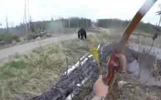 Hunter attacked by bear in terrifying encounter