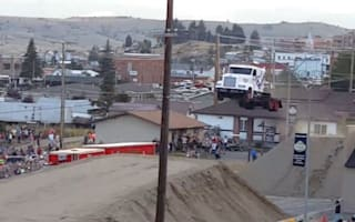 Video: Lorry pulls off record 166-foot jump