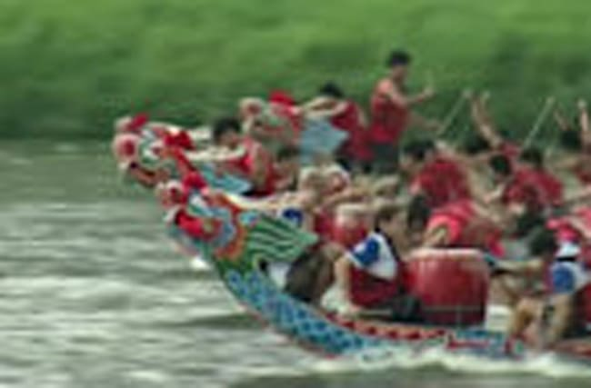 Enter the dragon boat race in Taipei!