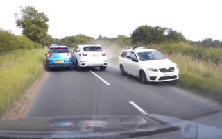 Porsche driver wearing slippers narrowly avoids head-on collision