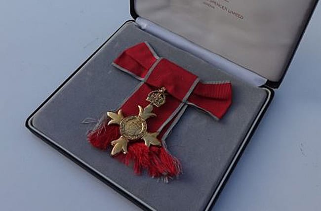OBE medal found dumped in London waste