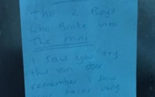 Enraged van driver leaves angry note to thieves in London