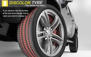 Future tyres to change colour when it's time to replace