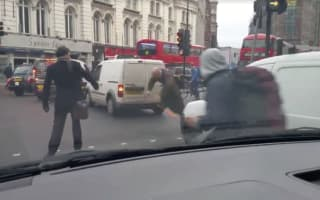 Tow line trips up pedestrians at crossing