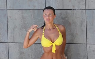 Lucy Mecklenburgh soaks up the sun in Spain