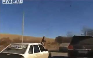 Driving in Chechnya: make sure you carry an AK-47
