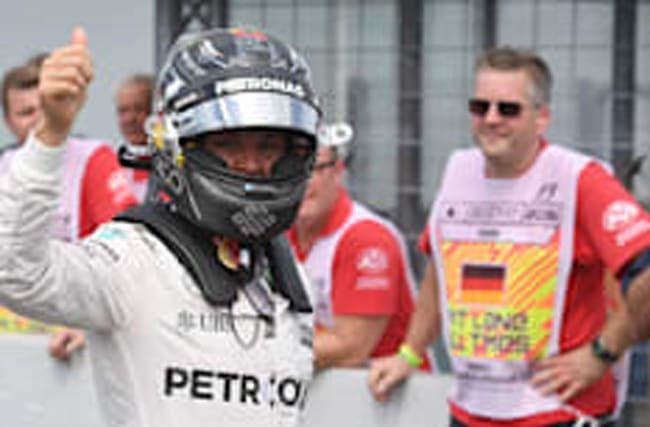 Pole-sitter Rosberg calm over electrical issue at German GP