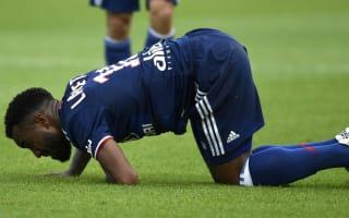 Lyon calm Lacazette injury fears