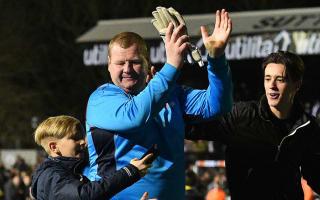 Pie-eating Sutton goalkeeper's antics under investigation