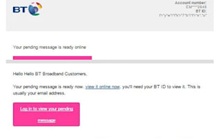 New scam targets BT customers