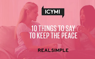 10 things to say to keep the peace