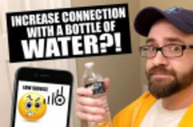 Man discovers smartphone reception hack during bottle flip challenge