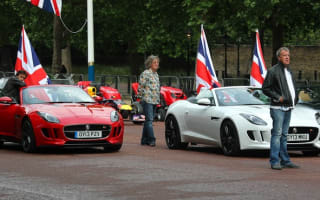 Clarkson and Top Gear crew create world's most expensive traffic jam