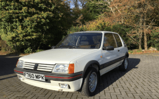 Classic Peugeot 205 GTis on offer at Classic Car Auction