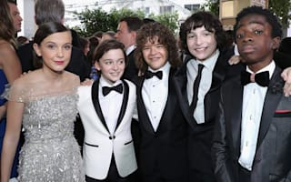 Stranger Things cast steal the show as they lead the early arrivals at the Golden Globes
