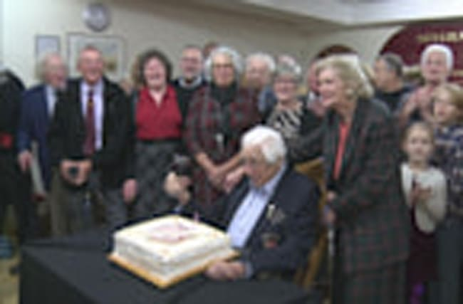 Britain's oldest Olympian turns 100
