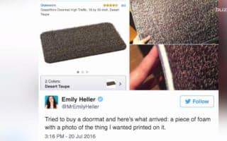 Woman orders doormat on Amazon, receives something bizarre
