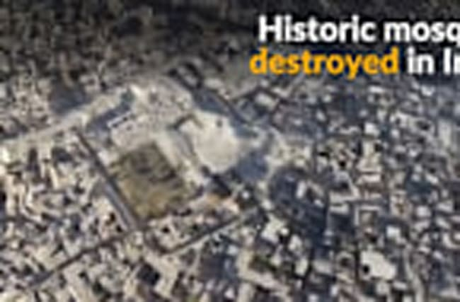 Islamic State releases video of destroyed historic mosque in Mosul