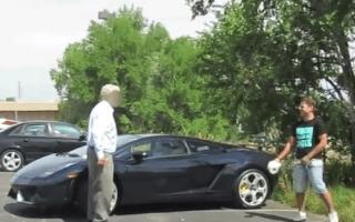 Lamborghini prank goes horribly wrong