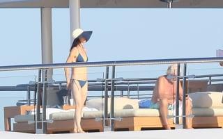 Leonardo DiCaprio and Juliette Lewis enjoy superyacht in Cannes